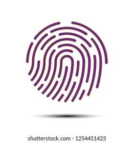 Finger Scan Icon Vector purple color