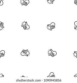 Finger Snapping pattern, vector illustration