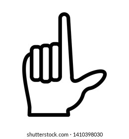 Finger Spelling the Alphabet in American Sign Language (ASL). The Letter l