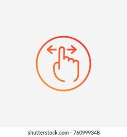 Finger swipe icon.gradient illustration isolated vector sign symbol