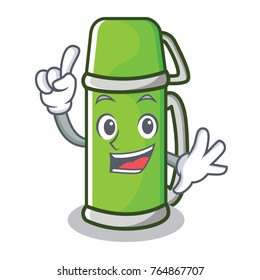 Finger thermos character cartoon style