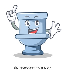 Finger toilet character cartoon style