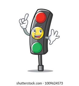 Finger traffic light character cartoon