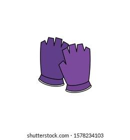 fingerless glove sport isolated icon vector illustration design