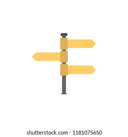 Fingerpost colored icon. Element of road signs and junctions icon for mobile concept and web apps. Colored Fingerpost can be used for web and mobile on white bakgorund