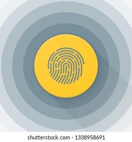 Fingerprint Adaptive icon Material Design illustration