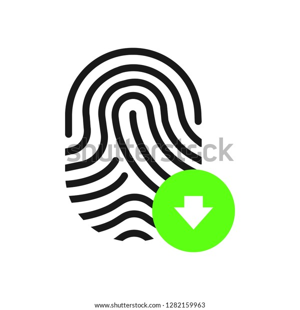 Fingerprint Download Icon Stock Vector (Royalty Free) 1282159963