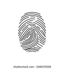 Fingerprint element. Thumbprint isolated on background. Fingermark symbols. Vector stock.