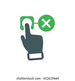 fingerprint failed icon