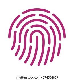 Fingerprint / finger print ID or fingerprint for unlock flat icon vector for apps with security unlock