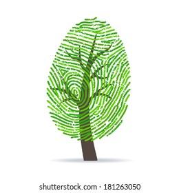 Fingerprint green tree