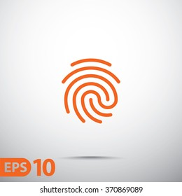 Fingerprint icon.