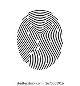 Fingerprint icon. Digital security authentication concept.