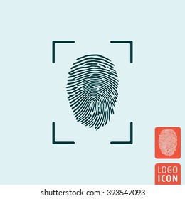 Fingerprint icon. Finger print icon isolated. Vector illustration