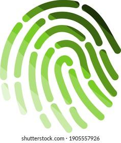 Fingerprint Icon. Flat Color Ladder Design. Vector Illustration.