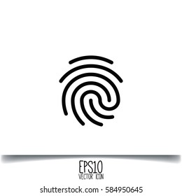 Fingerprint icon. Flat style for graphic and web design, Modern simple vector sign. Internet concept. Trendy symbol for website design web button, mobile app.