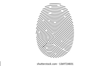 Fingerprint icon. Identification. Vector illustration.