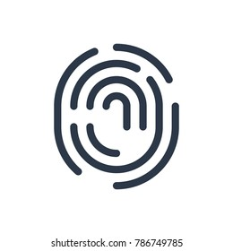 Fingerprint icon. Isolated thumbprint and fingerprint icon line style. Premium quality vector symbol drawing concept for your logo web mobile app UI design.