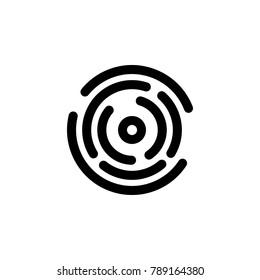 Fingerprint icon , sign design