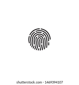fingerprint icon symbol design vector