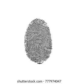 Fingerprint icon, vector illustration design. Police collection.