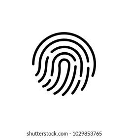 Fingerprint icon.Symbol for graphic and web design. flat vector illustration, eps10.