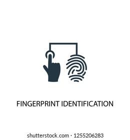 fingerprint identification icon. Simple element illustration. fingerprint identification concept symbol design. Can be used for web and mobile.