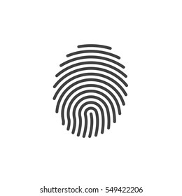 Fingerprint line icon, vector sign, linear pictogram isolated on white. Symbol, logo illustration