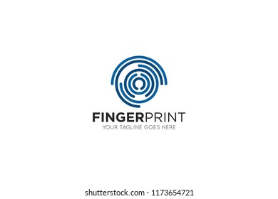 fingerprint logo, icon, symbol