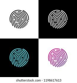 Fingerprint logo vector illustration