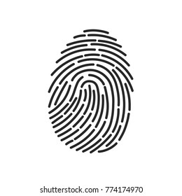 Fingerprint Scan Icon. Security concept, opening or closing. Vector illustration.