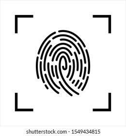 Fingerprint Scan Icon vector isolated on white background