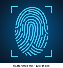 Fingerprint scanning icon for apps with security unlock – for stock