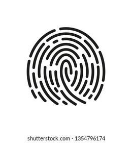 Fingerprint scanning icon sign – vector