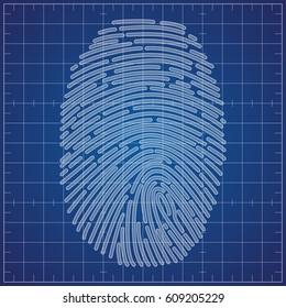 Fingerprint scheme on blueprint