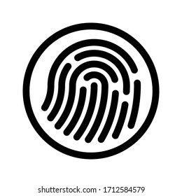 Fingerprint sign icon. Digital security authentication concept. vector illustration on white background