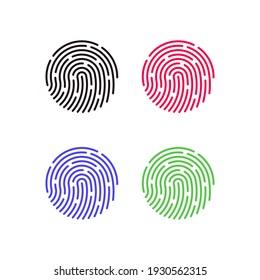 fingerprint symbol vector for login to device