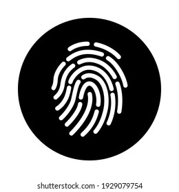 Fingerprint vector icon. Touch ID icon isolated on white background. ID app icon. Vector icon for web site, app or multimedia. UI UX.