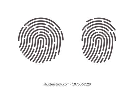 Fingerprint vector icons for finger print scan or security logo