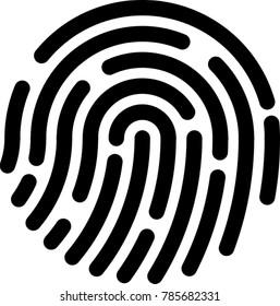 fingerprint vector for your design or logo
