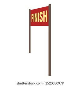 Finish banner icon. Flat illustration of finish banner vector icon for web design
