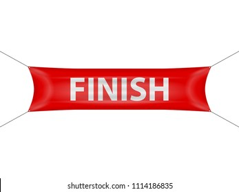Finish banner on a white background.