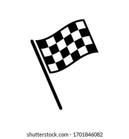 finish flag icon design vector template