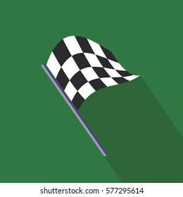 finish flag race green