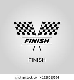 Finish icon. Finish symbol. Flat design. Stock - Vector illustration