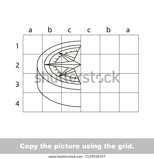 Finish Simmetry Picture Using Grid Sells Stock Vector Royalty