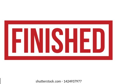 Finished Rubber Stamp. Red Finished Stamp Seal – Vector
