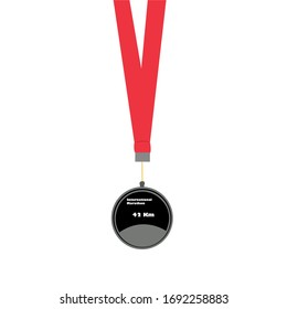 Finisher marathon medal icon for running event