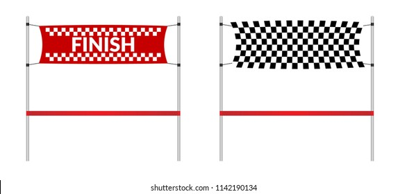 new concept 11f47 4226a finishing line and red ribbon. vector illustration