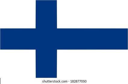 Finland flag and language icon - isolated vector illustration